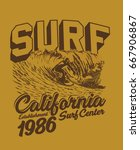 surf graphic. t shirt printing. ... | Shutterstock .eps vector #667906867