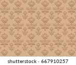 the background of brown... | Shutterstock .eps vector #667910257