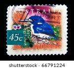 Small photo of AUSTRALIA - CIRCA 1997: A stamp printed in Australia shows little kingfisher - Alcedo pusilla, series, circa 1997