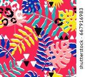 vector seamless pattern...   Shutterstock .eps vector #667916983