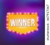 winner retro banner template... | Shutterstock .eps vector #667917367