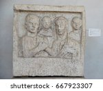 a funerary slab in the baths of ...   Shutterstock . vector #667923307