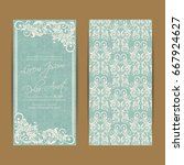 wedding invitation card with... | Shutterstock .eps vector #667924627