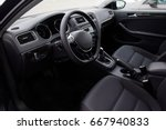 driver's seat of the car... | Shutterstock . vector #667940833