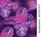 exotic tropical vrctor... | Shutterstock .eps vector #667951417