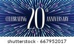 20 years anniversary vector... | Shutterstock .eps vector #667952017