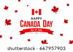 canada day with red maple... | Shutterstock .eps vector #667957903
