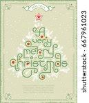 vintage christmas postcards...   Shutterstock .eps vector #667961023