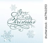 magic christmas background with ...   Shutterstock .eps vector #667961053