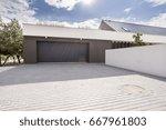 modern concrete garage for... | Shutterstock . vector #667961803
