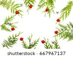 wide arch shaped christmas... | Shutterstock . vector #667967137