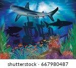 underwater tropical background...