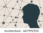 profile of the head of a man....   Shutterstock . vector #667992553