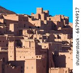 Small photo of Ait Ben Haddou (or Ait Benhaddou) is a fortified city near ouarzazate in Morocco. Ait Ben Haddou is a great example of earthen clay architecture.