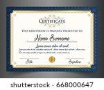 creative certificate template... | Shutterstock .eps vector #668000647