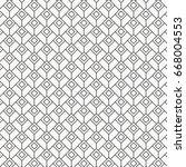 geometric vector pattern ... | Shutterstock .eps vector #668004553