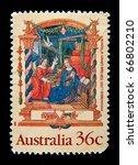 australia   circa 1999  a stamp ...   Shutterstock . vector #66802210