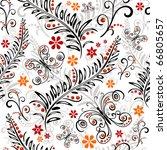 White Effortless Floral Patter...