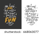 in every job  that must be done ... | Shutterstock .eps vector #668063077