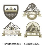 camping and outdoor activity... | Shutterstock .eps vector #668069323