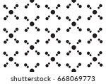monochrome simple atom pattern | Shutterstock .eps vector #668069773