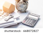 mortgage  savings and finance...   Shutterstock . vector #668072827