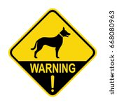 beware of dog sign  symbol ... | Shutterstock .eps vector #668080963