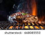 Tasty Beef Steaks On The Grill...