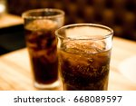 soft drink or sparkling water... | Shutterstock . vector #668089597