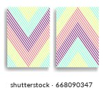 abstract geometric pattern with ... | Shutterstock .eps vector #668090347