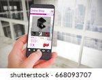 female hand holding a... | Shutterstock . vector #668093707
