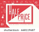 sale banner template design.... | Shutterstock .eps vector #668119687