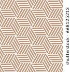 vector beige pattern. geometric ... | Shutterstock .eps vector #668125213