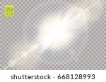 vector transparent sunlight... | Shutterstock .eps vector #668128993