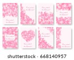 set of rectangular backgrounds... | Shutterstock .eps vector #668140957