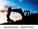 Silhouette Tracked Excavator...