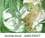 marbled green and golden... | Shutterstock . vector #668154037