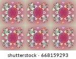 beautiful raster snowflakes...   Shutterstock . vector #668159293