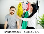 woman has nothing to wear | Shutterstock . vector #668162473