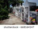 Small photo of 23RD OCTOBER 2014, MOMPOX, COLOMBIA - Mompox Cemetery, the religious center of the town