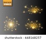 sparks isolated. christmas...   Shutterstock .eps vector #668168257