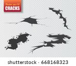 vector cracks isolated.... | Shutterstock .eps vector #668168323