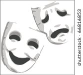 theater emotion masks | Shutterstock .eps vector #66816853