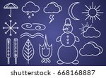 set contour icons weather | Shutterstock .eps vector #668168887