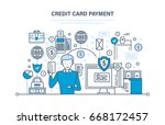 credit card payment  secure... | Shutterstock .eps vector #668172457