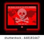 ransomware petya computer virus ... | Shutterstock .eps vector #668181667