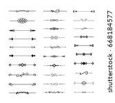 calligraphic frame divider... | Shutterstock .eps vector #668184577