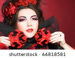 queen of hearts. creative lady... | Shutterstock . vector #66818581