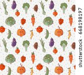 lovely vegetables vector... | Shutterstock .eps vector #668198197