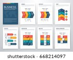 set with infographics. data and ... | Shutterstock .eps vector #668214097